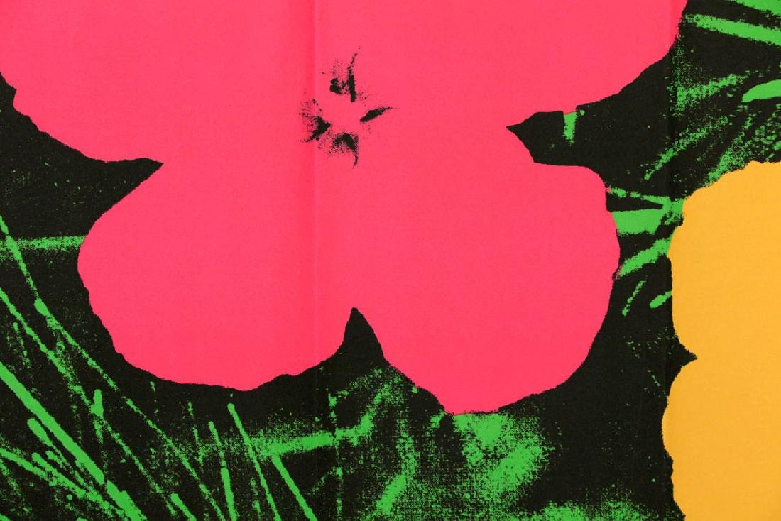 """Andy Warhol """"Flowers"""" Litho Mailer - 5"""