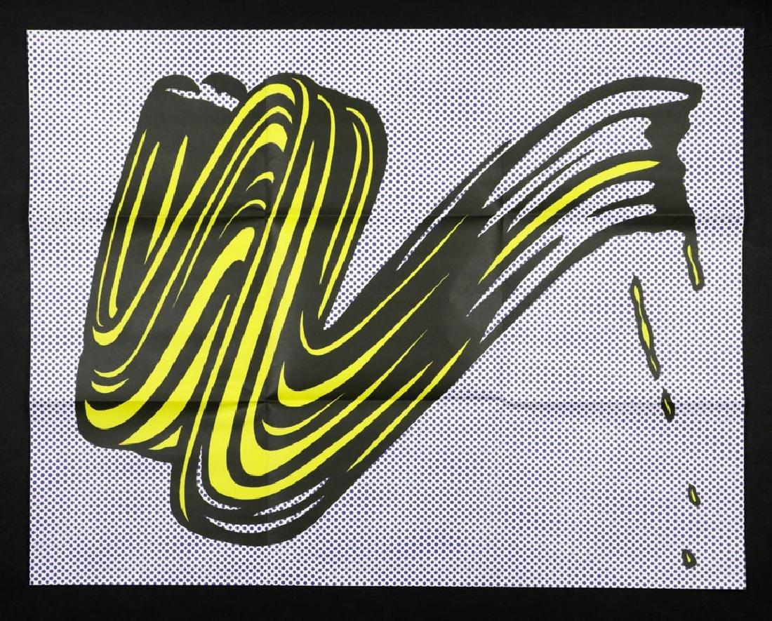 "Roy Lichtenstein ""Brushstroke"", Litho Mailer"