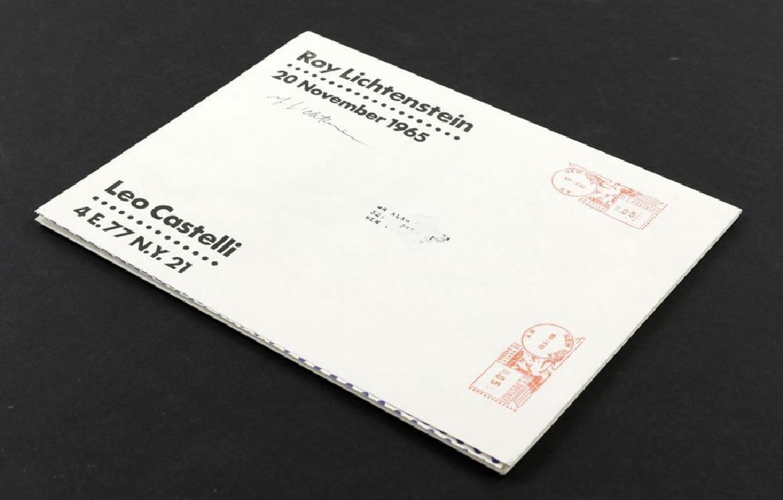 "Roy Lichtenstein ""Brushstroke"", Litho Mailer - 2"