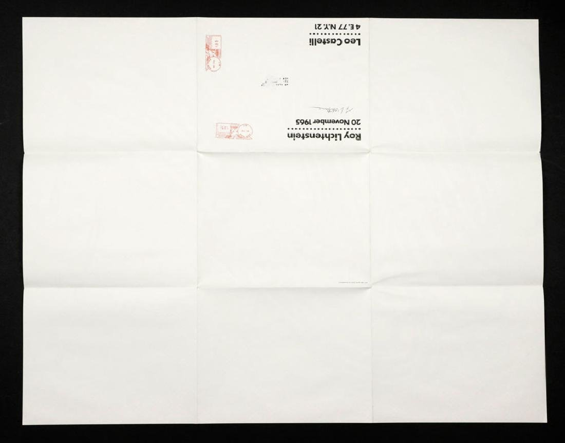 "Roy Lichtenstein ""Brushstroke"", Litho Mailer - 3"