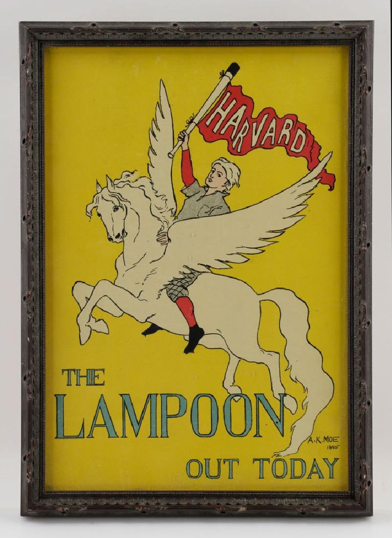 (3) Harved Lampoon Lithos Signed AK Moe, 1895 - 3