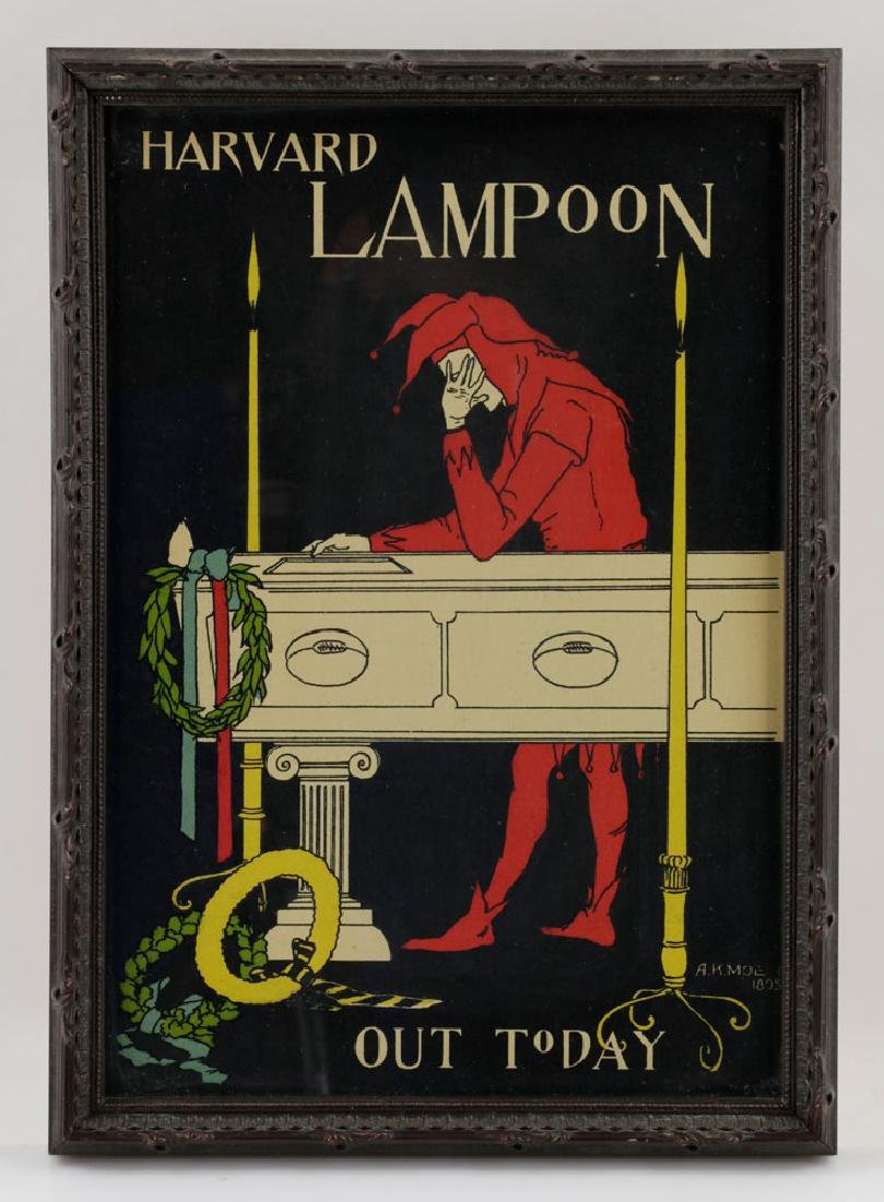 (3) Harved Lampoon Lithos Signed AK Moe, 1895 - 4