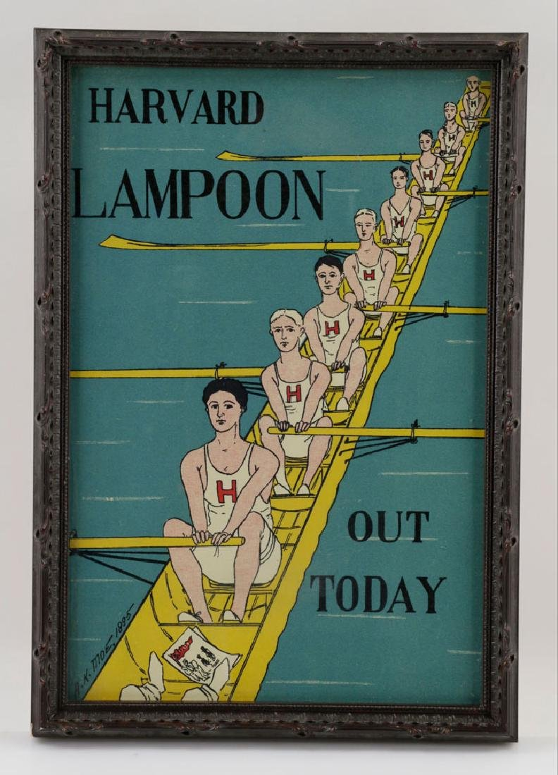 (3) Harved Lampoon Lithos Signed AK Moe, 1895 - 5