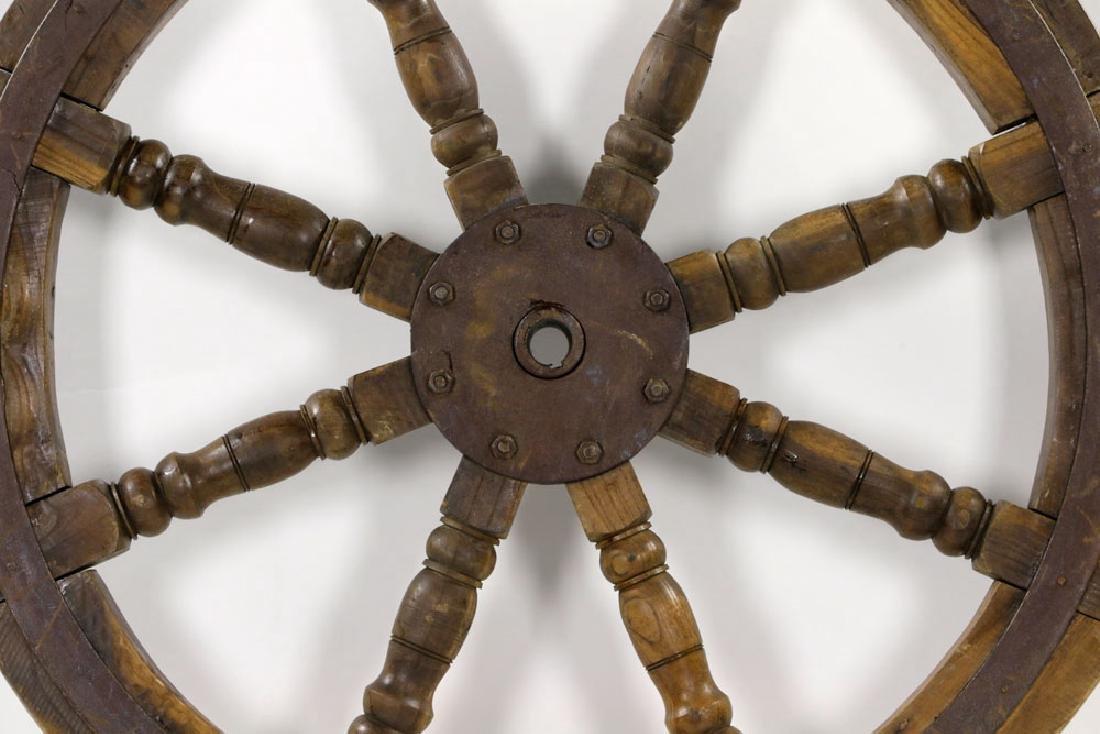 Antique Ship's Wheel - 2
