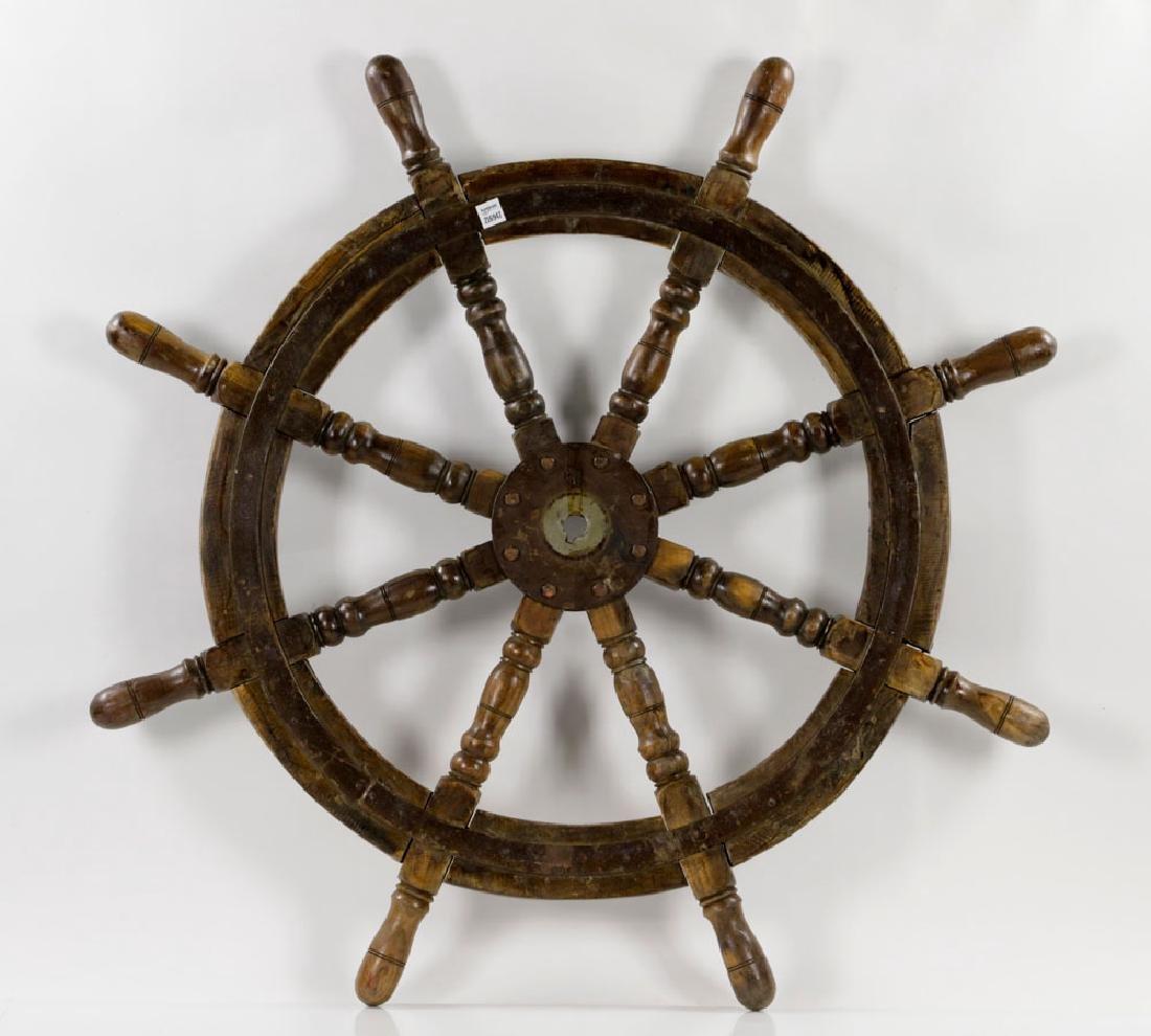 Antique Ship's Wheel - 6