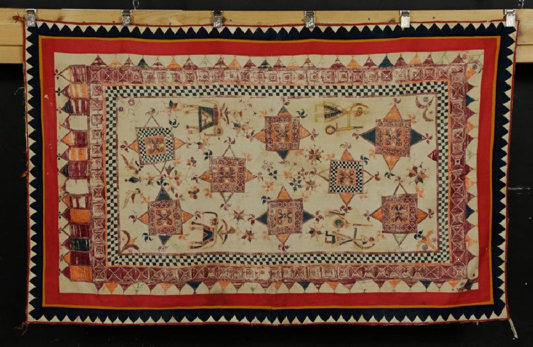 19th C. Afghanistan Embroidered Doorway