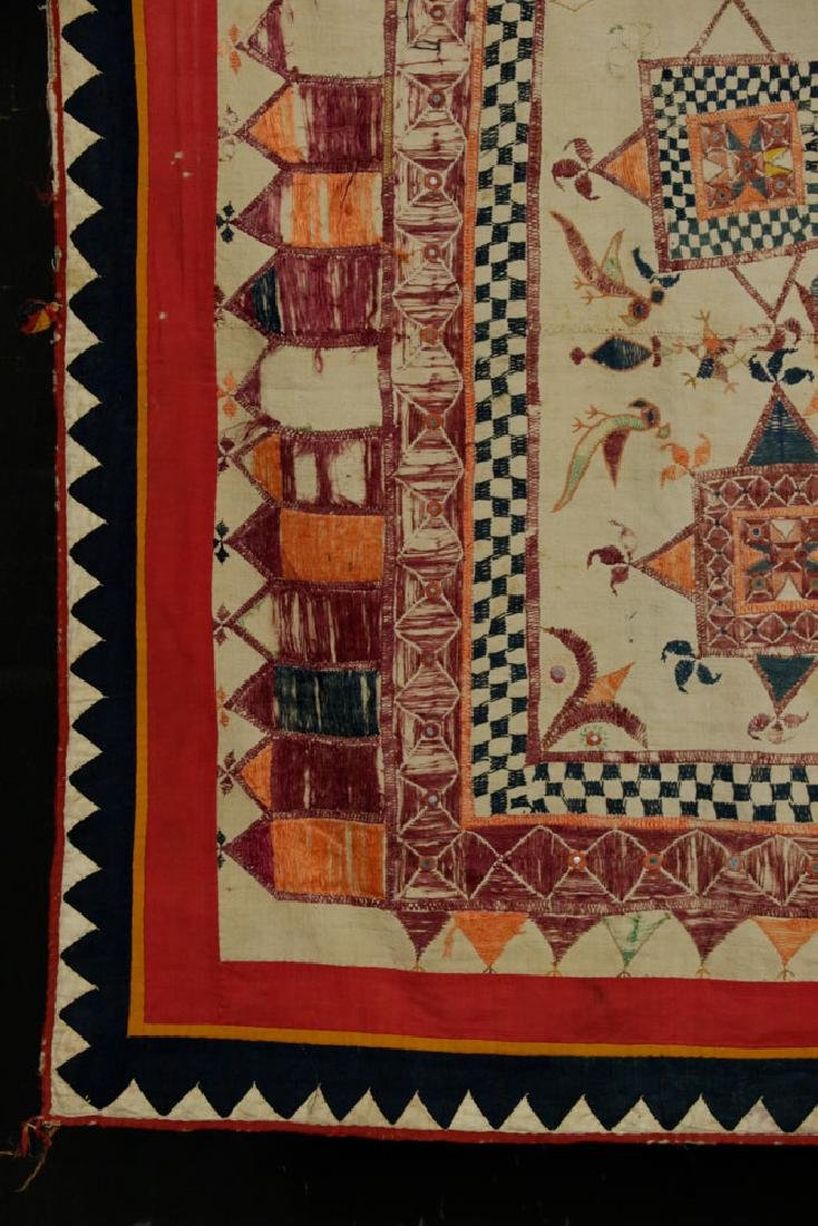 19th C. Afghanistan Embroidered Doorway - 2