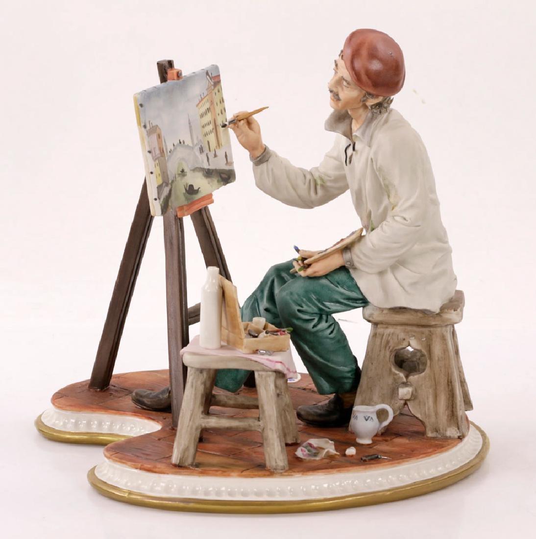 Italian Capodimonte Porcelain Artist Painting