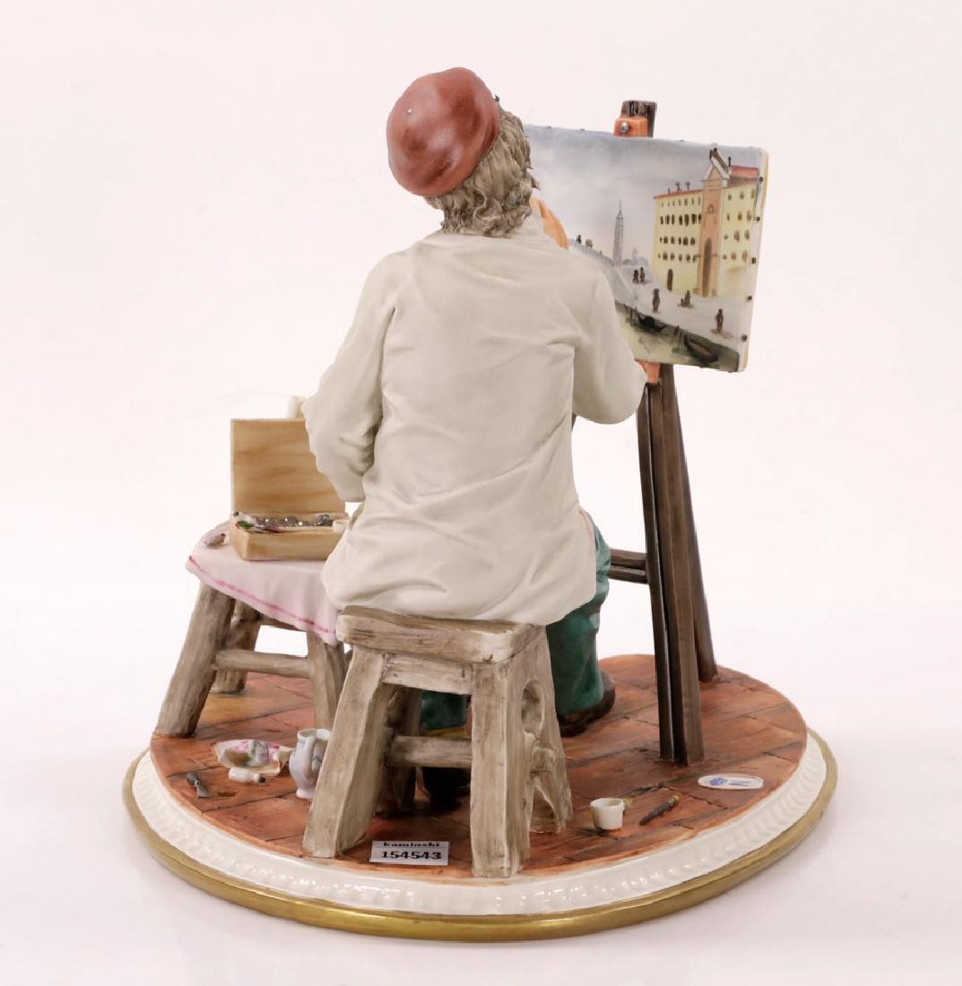 Italian Capodimonte Porcelain Artist Painting - 2