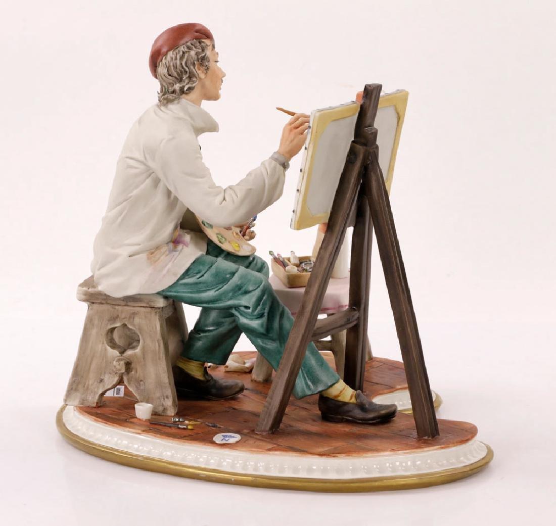 Italian Capodimonte Porcelain Artist Painting - 3