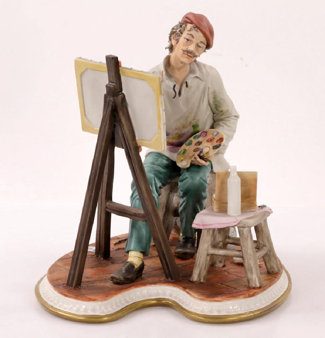 Italian Capodimonte Porcelain Artist Painting - 4