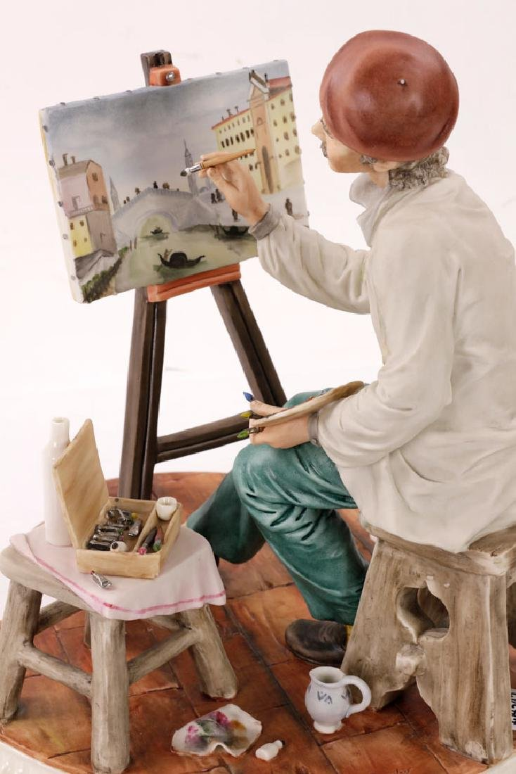 Italian Capodimonte Porcelain Artist Painting - 5