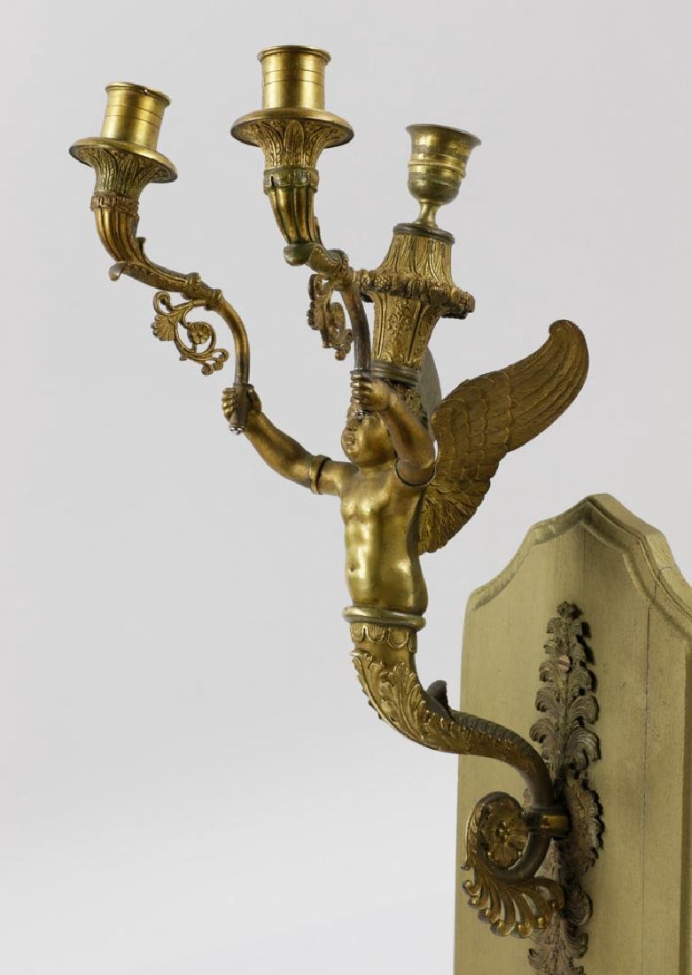 Mid-19th C. French Empire Bronze Wall Sconce - 3
