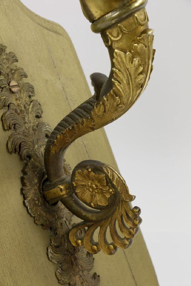 Mid-19th C. French Empire Bronze Wall Sconce - 6