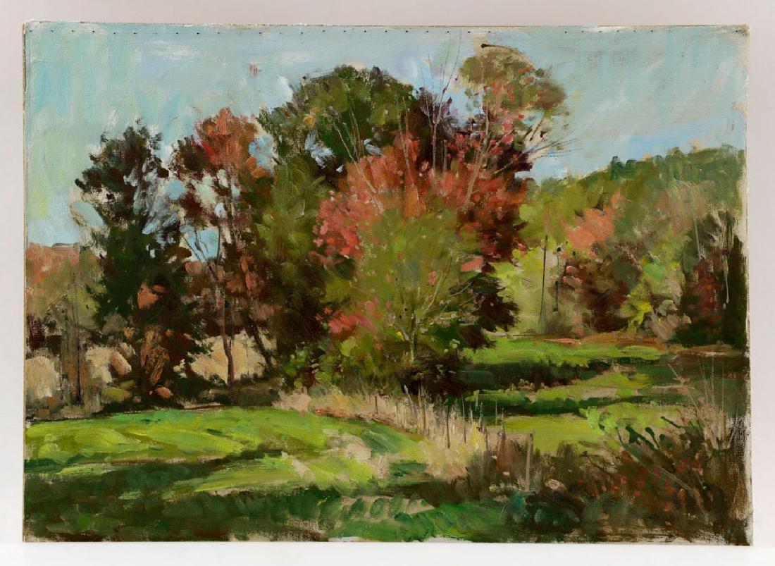 Bernard Corey, Autumn Landscape, Oil on Board