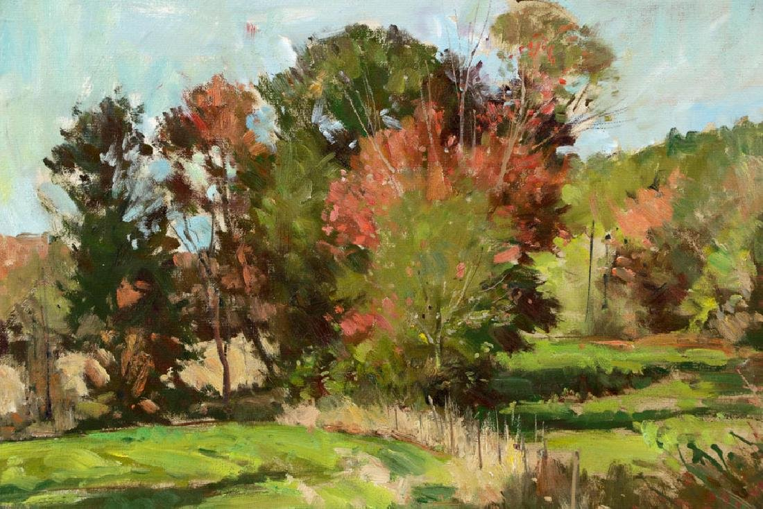 Bernard Corey, Autumn Landscape, Oil on Board - 2