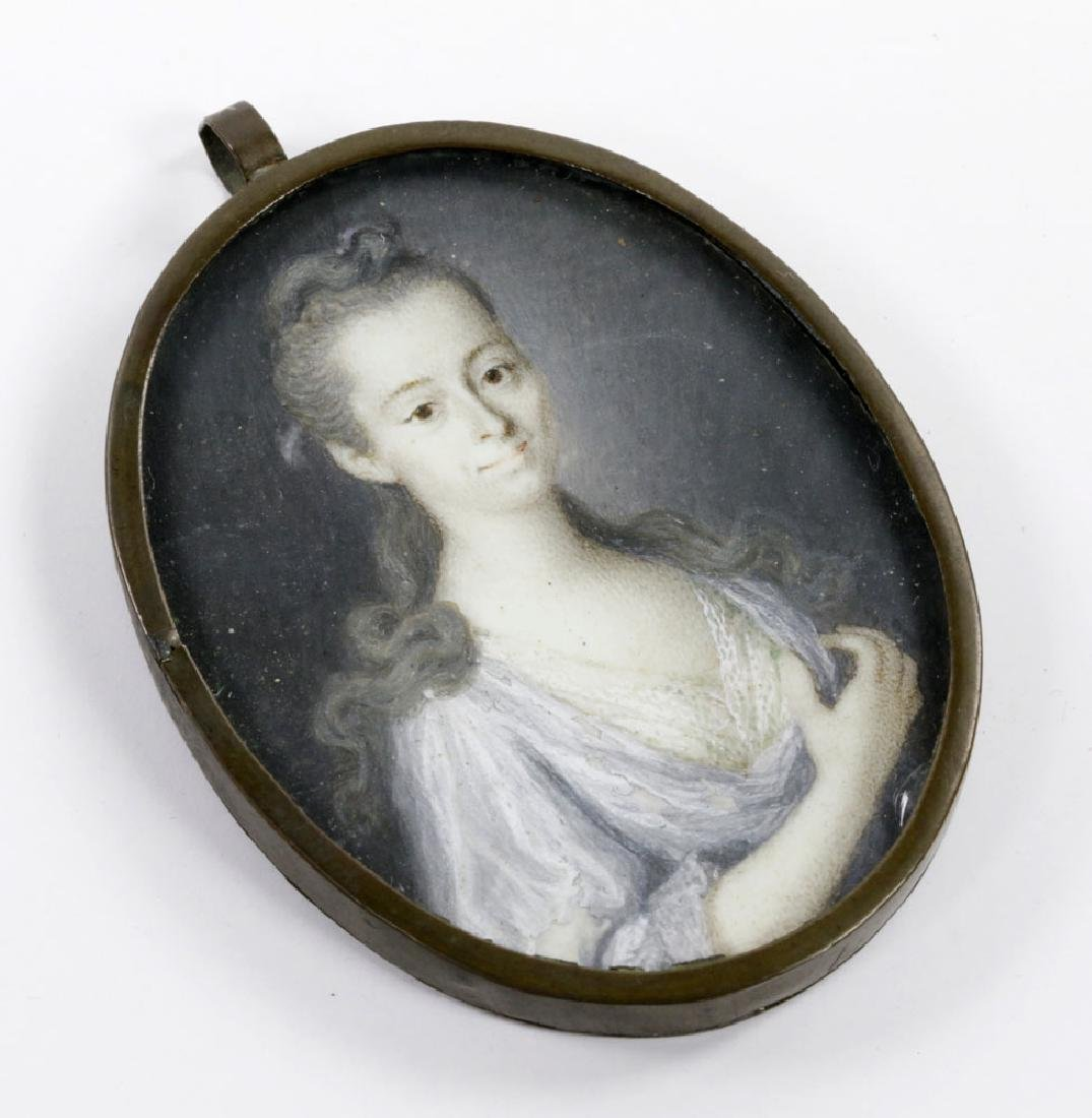 Early Miniature Portrait of Young Girl