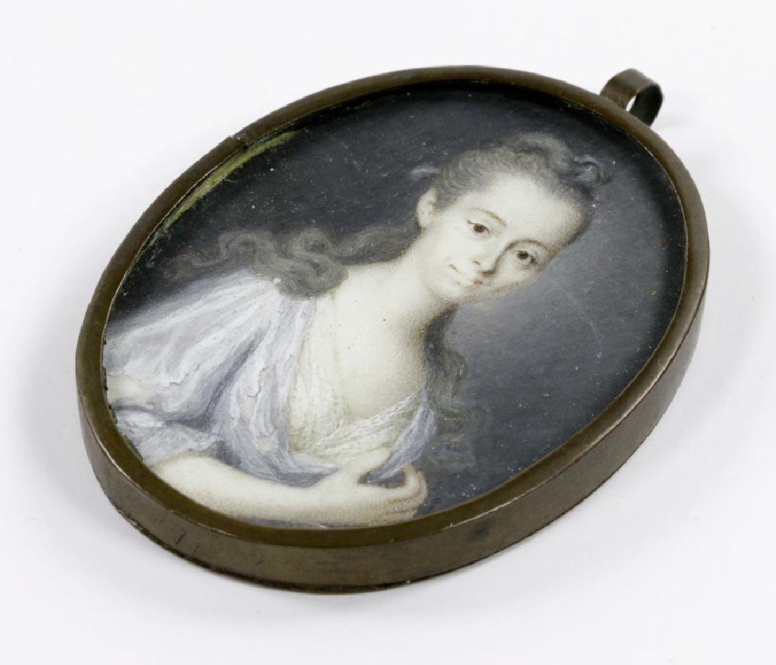 Early Miniature Portrait of Young Girl - 2