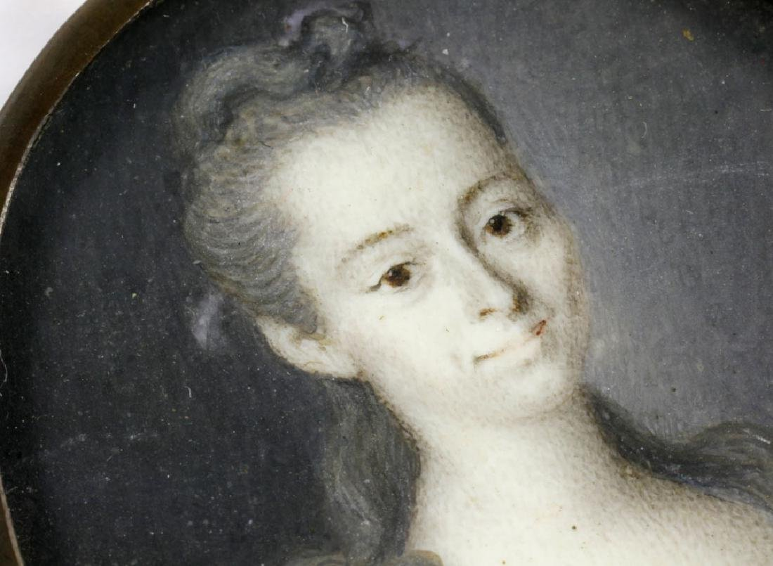 Early Miniature Portrait of Young Girl - 4