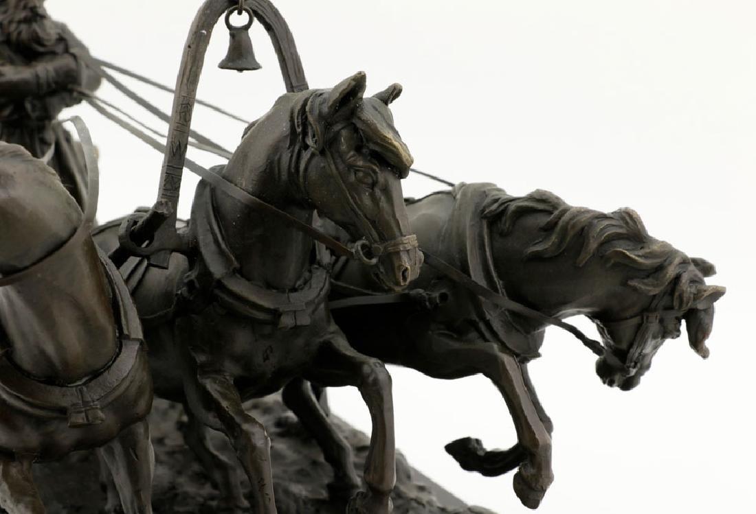 Signed E. Halk, Bronze of Sleigh & Horses - 7