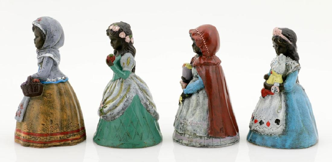 Set of (4) Austrian Style Bronze Bells, Fairy Tales - 4