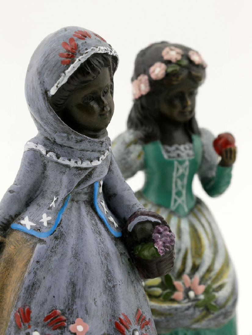 Set of (4) Austrian Style Bronze Bells, Fairy Tales - 6