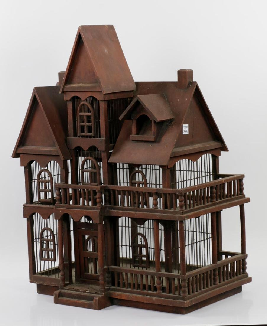 Lovely Old Victorian Architectural Birdcage - 2