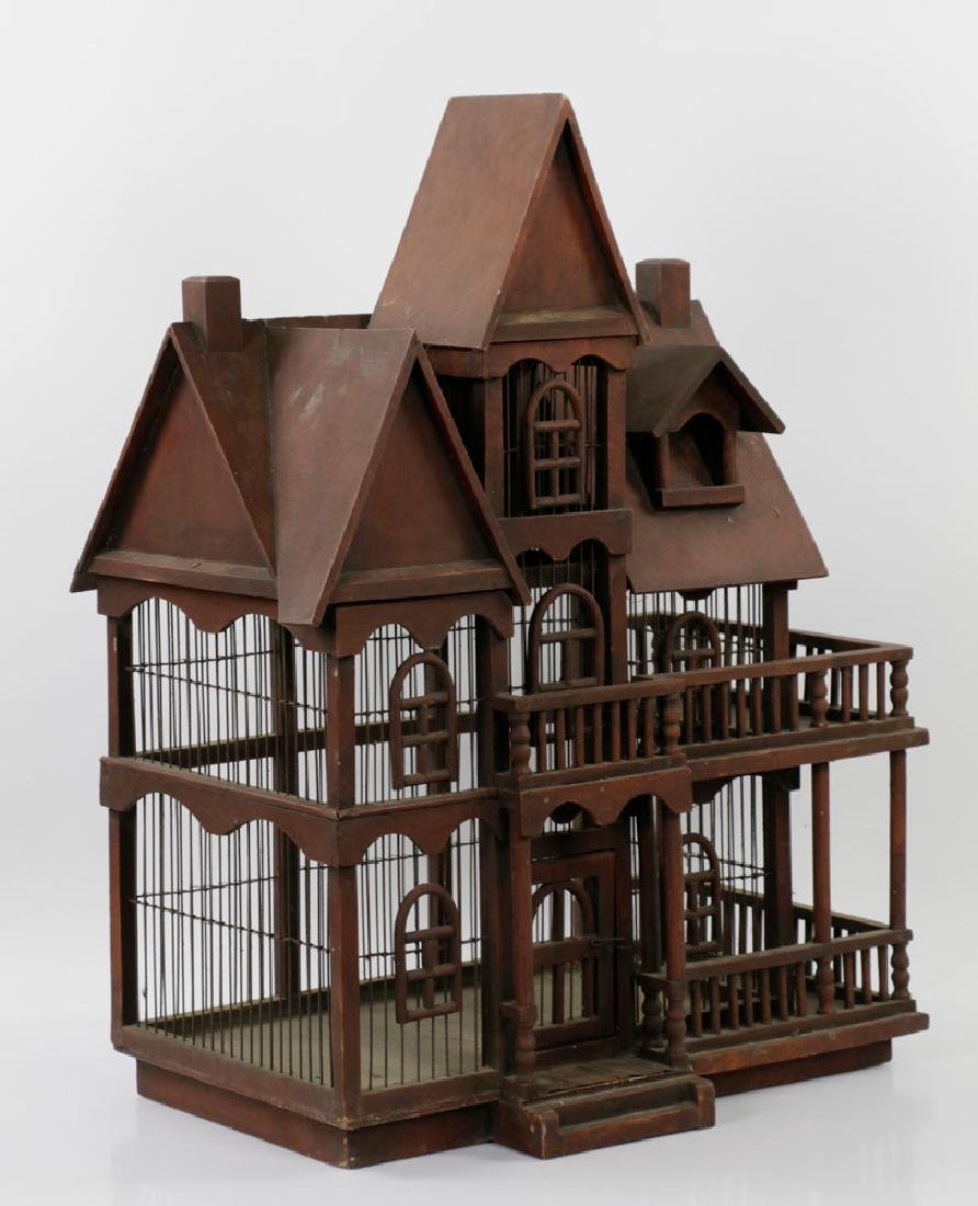 Lovely Old Victorian Architectural Birdcage - 3