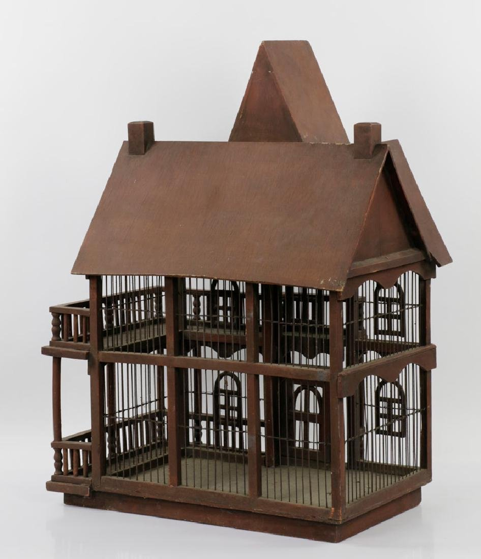Lovely Old Victorian Architectural Birdcage - 4