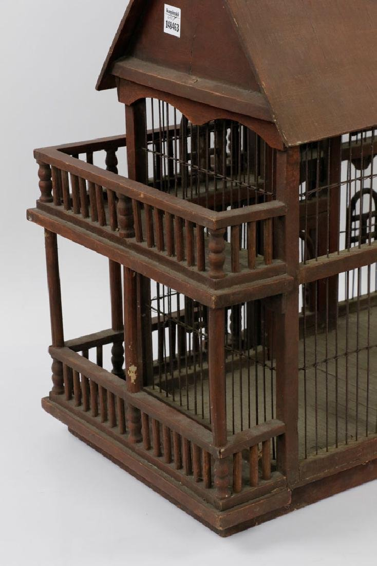 Lovely Old Victorian Architectural Birdcage - 5