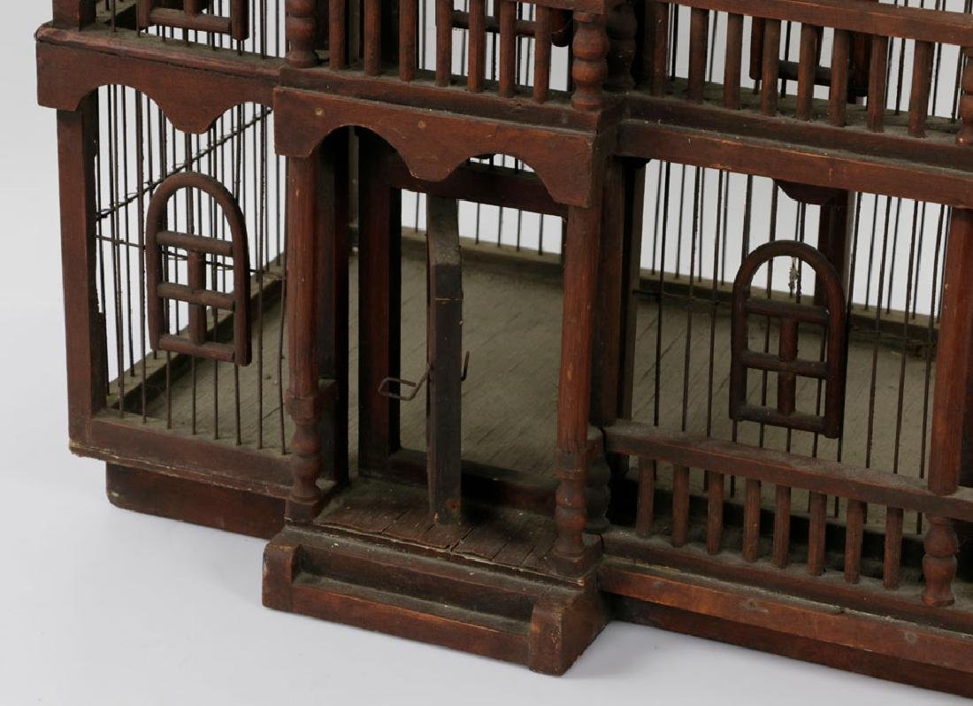 Lovely Old Victorian Architectural Birdcage - 6