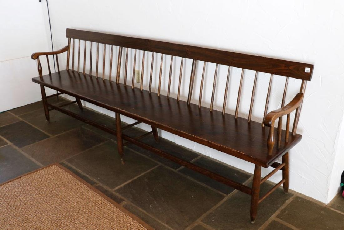 Wooden Country Pine Bench - 3