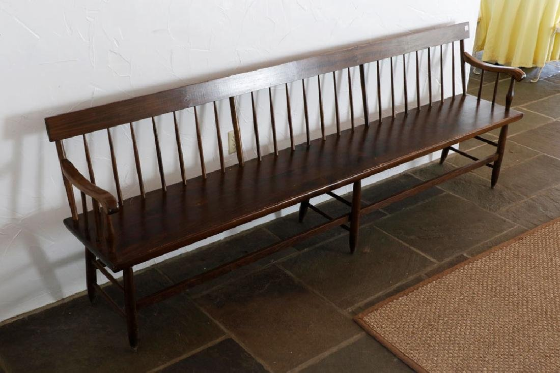 Wooden Country Pine Bench - 4