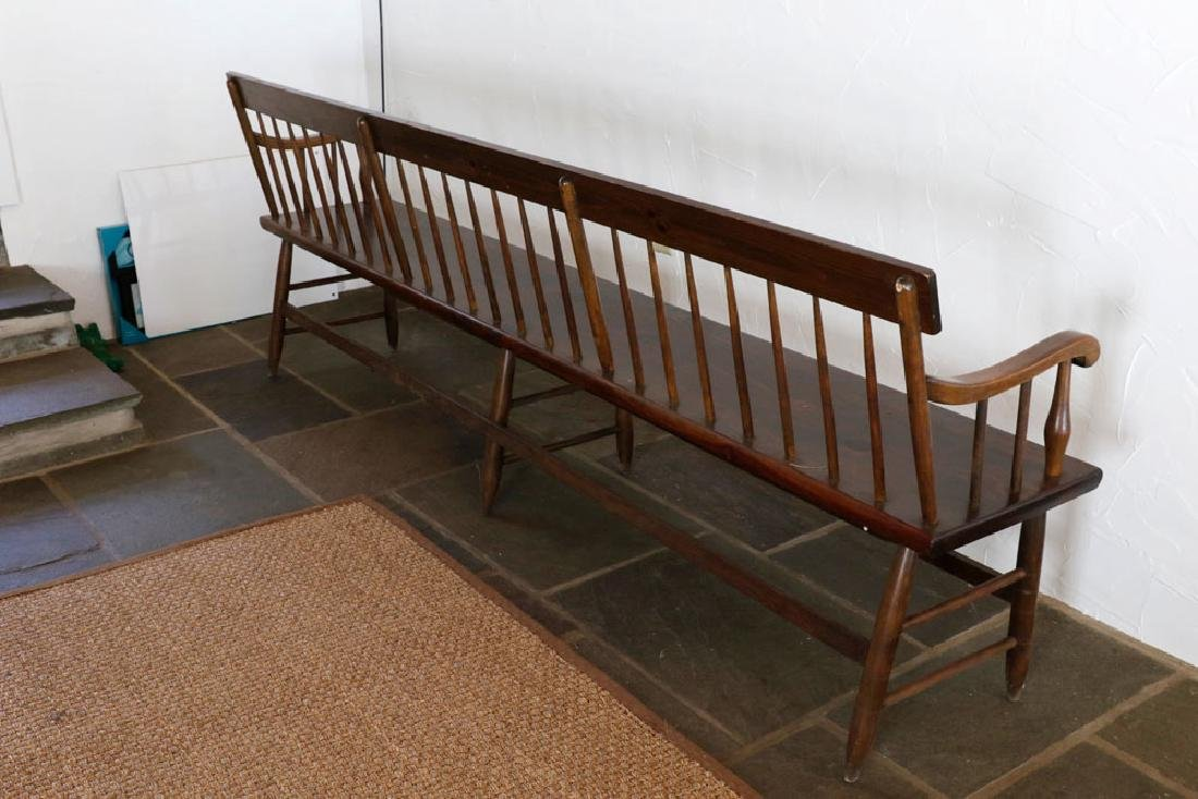 Wooden Country Pine Bench - 5