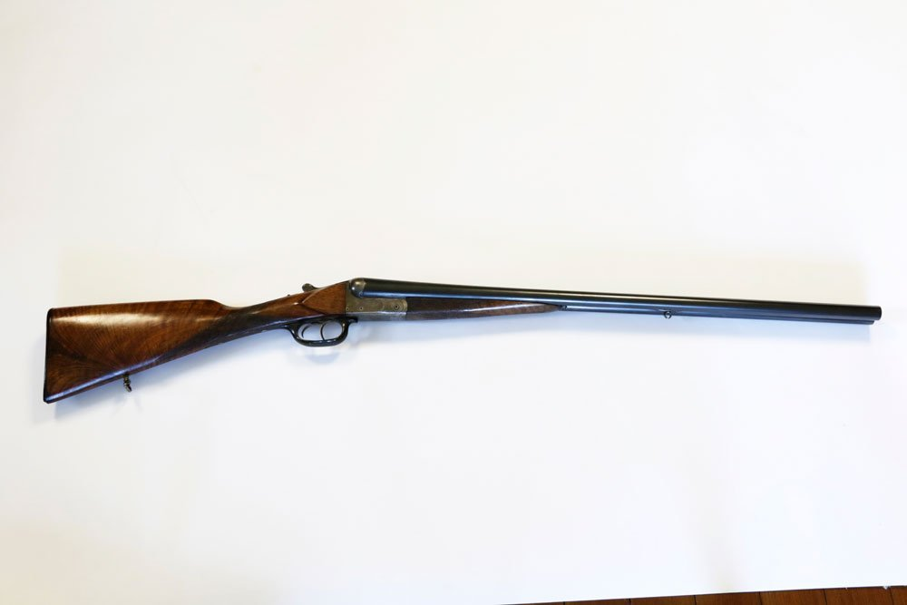 Antique Double-Barrel Shotgun, Engraved - 2