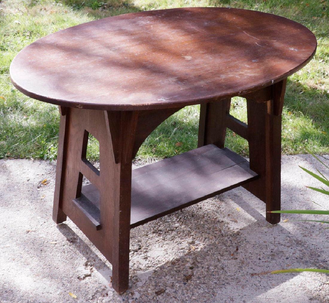 Signed Limberts Arts & Crafts Oak Oval Table