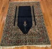 Finely Woven Semiantique Turkish Prayer Rug