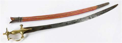 19th C. Mughal Shamshir Sword w/ Sheath