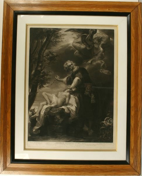 1: COPLEY,ABRAHAM OFFERING SON,MEZZOTINT,C.1797