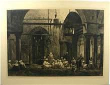 92 HAIG ARAB STUDENTS CAIRO ETCHING C 1890