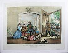 186 CURRIER  IVES WOODS LITHOGRAPH WHC C1867