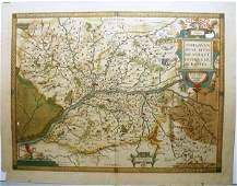 ANJOU, ANDEGAVEN, ENGRAVING W/HC, C.1579