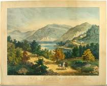 382 CURRIER  IVES VIEWPOTOMAC HC LITHO C1866