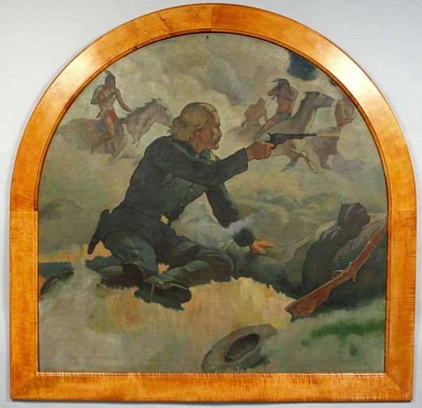 660: MANNER OF N.C. WYETH, CUSTER'S LAST STAND O/B