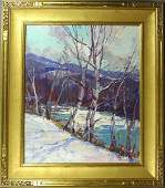 683 SIGNED EMILE A GRUPPE WINTER VERMONT OC
