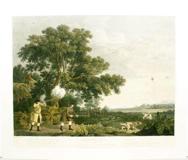 1003: GEORGE STUBBS, SHOOTING PLATE # 3, C. 1770