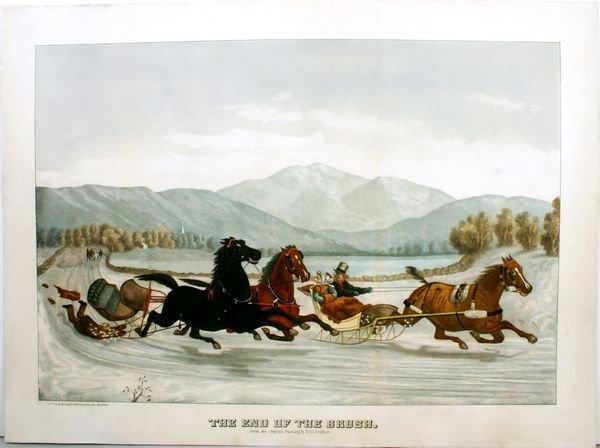 1007: LEIGHTON, END OF THE BRUSH, HC LITHO, C.1850