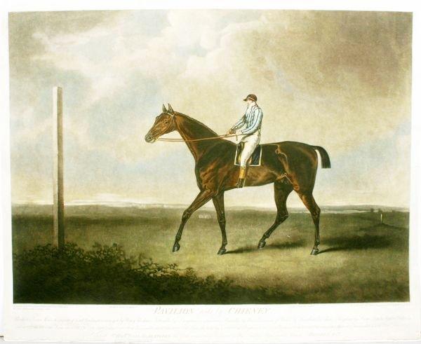 1011: CHALON, PAVILION, HAND COLOR MEZZOTINT, C.1803