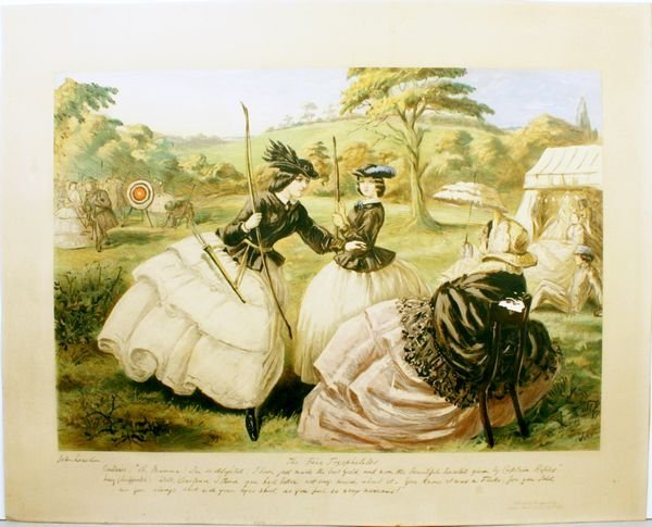 1014A: LEECH, THE FAIR TOXOPHILES, CHROMOLITHO,C.1865