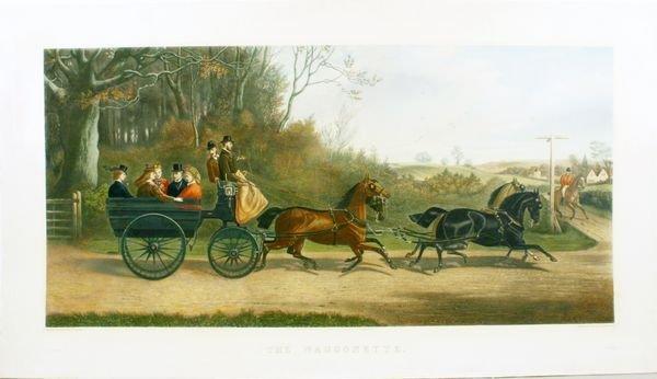 1015: WILLIAMS, THE WAGGONETTE, HC AQUATINT, C.1873